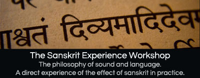 The Sanskrit Experience Workshop