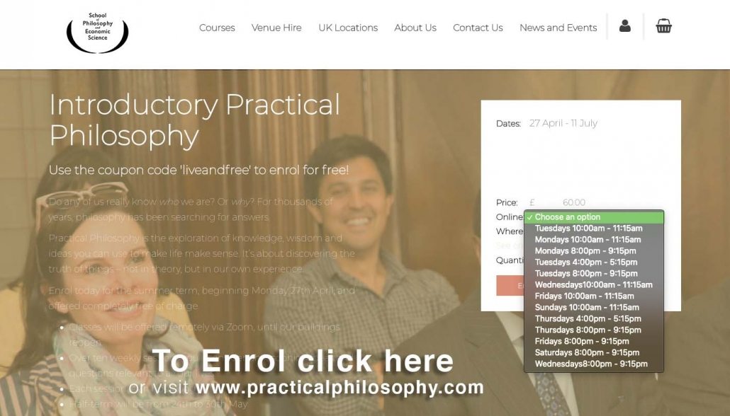 Practical Philosophy Course Enrolment