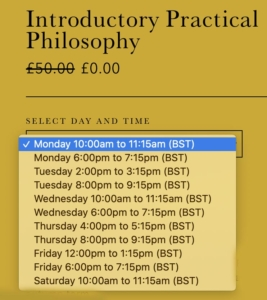 Introductory Philosophy Course Online