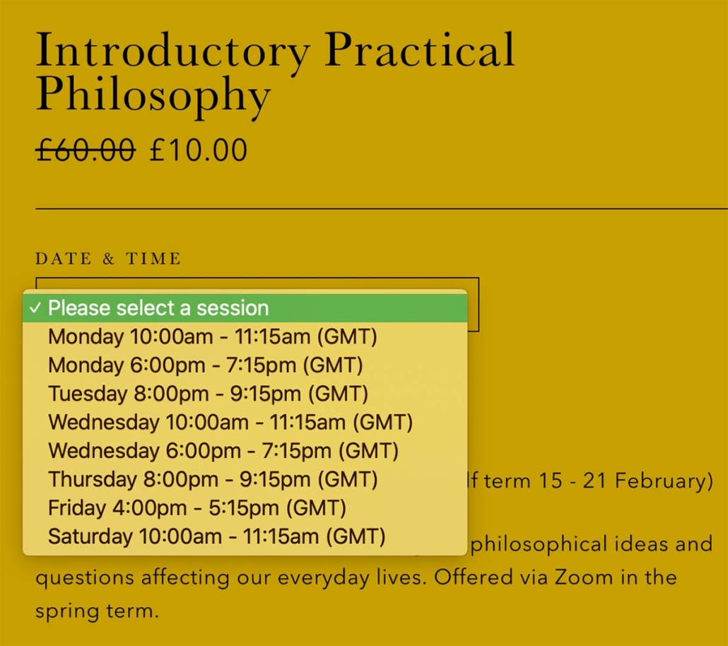 practical philosophy course online birmingham